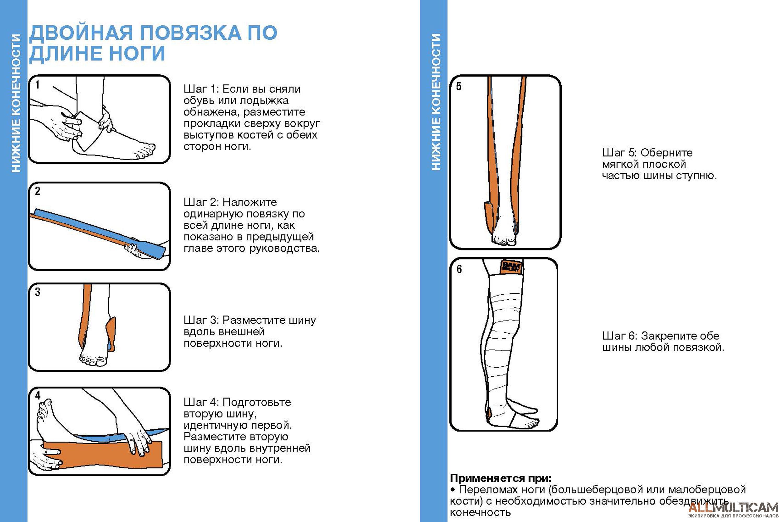 Двойная повязка по длине ноги