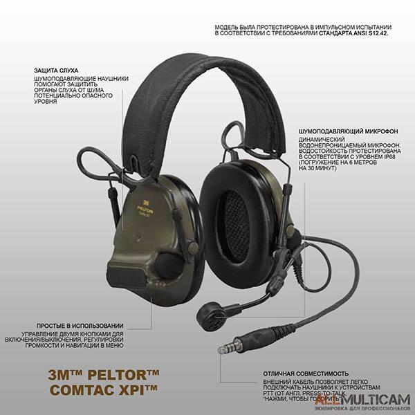 Наушники 3M™ PELTOR™ ComTac XPI™ Обзор