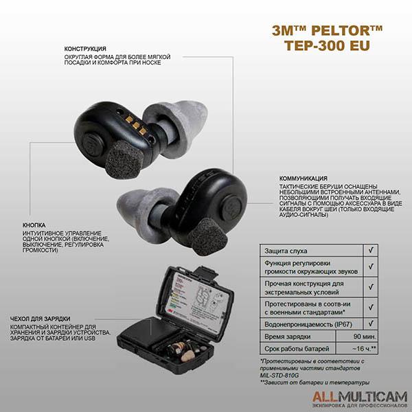 Тактические беруши Peltor TEP-300 EU