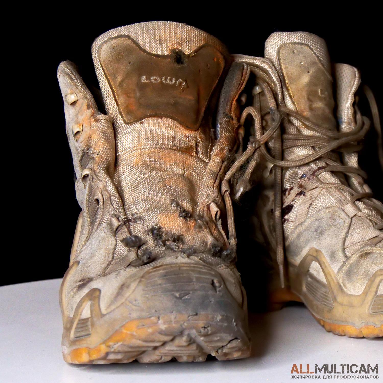 Подрыв ботинок Lowa Zephyr GTX Mid TF на гранате