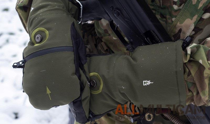 Обзор тактических зимних перчаток-рукавиц Heat 3 Smart