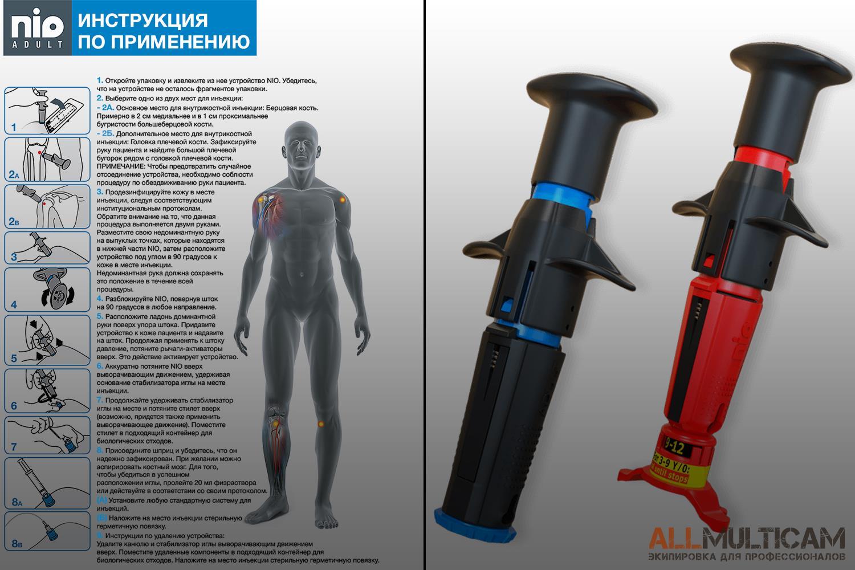 Инструкция Автоматическое устройство для внутрикостных инъекций NIO PerSys Medical