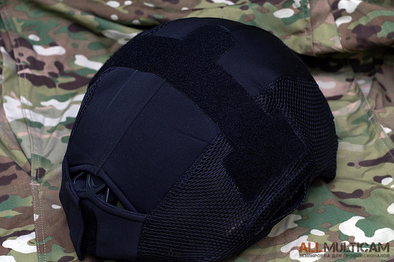 Черный чехол для шлема Спартанец