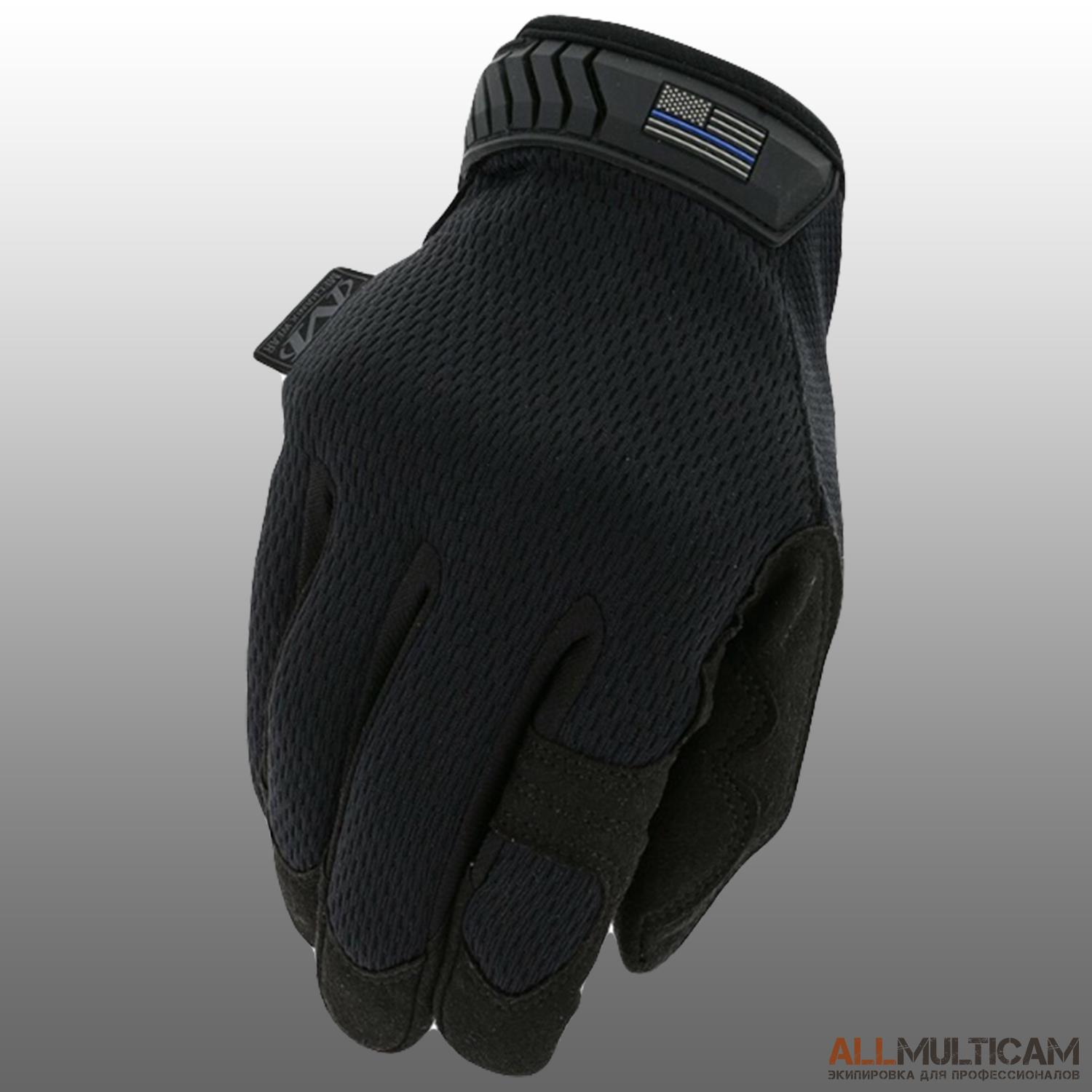 Перчатки Thin Blue Line Mechanix Wear