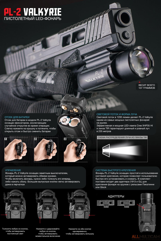Фонарь PL-2 Valkyrie Pistol Light Olight