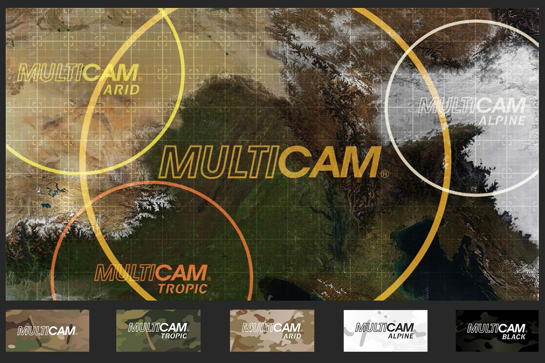 Изображение разновидностей камуфляжей MultiCam