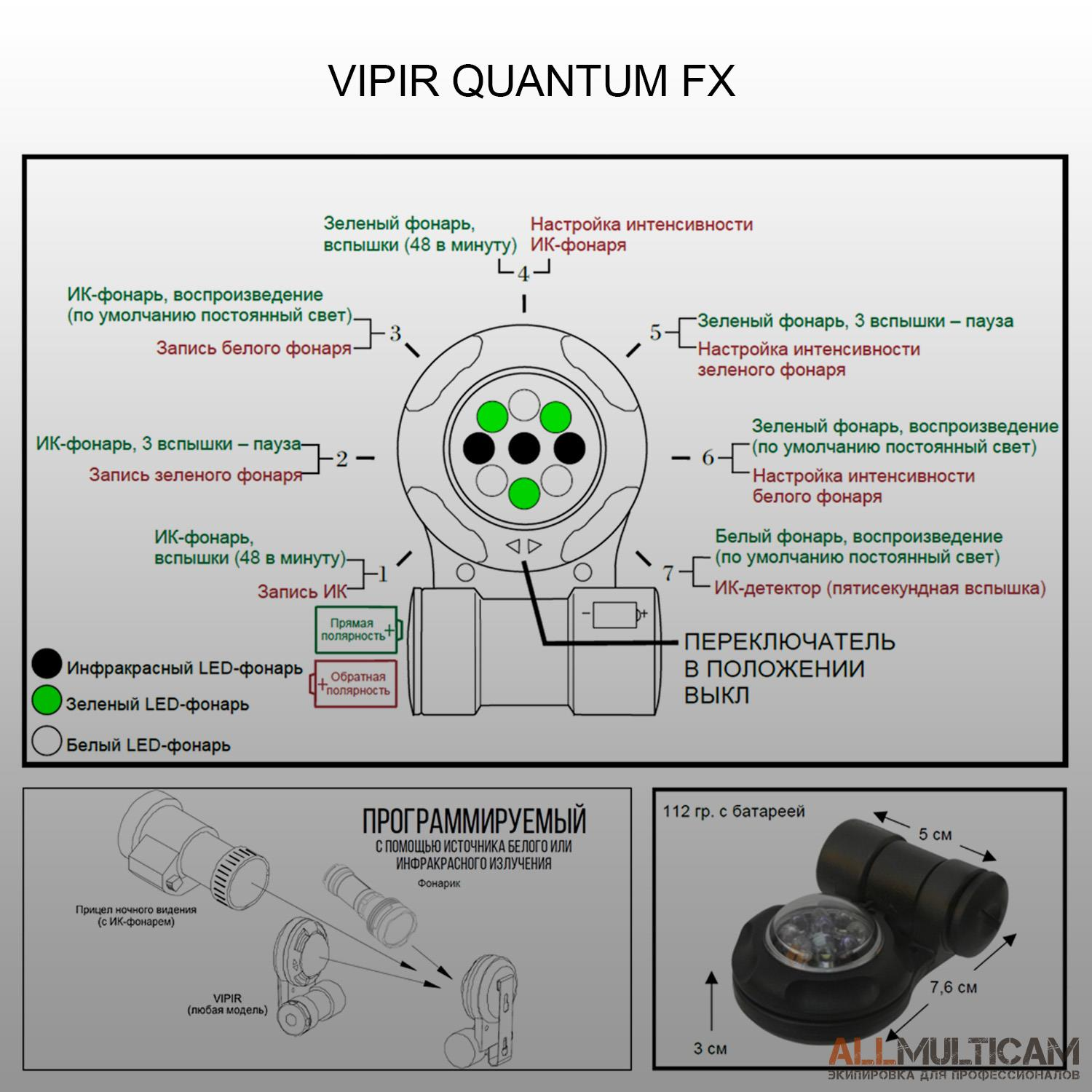 Маркер VIPIR Quantum FX Adventure Lights