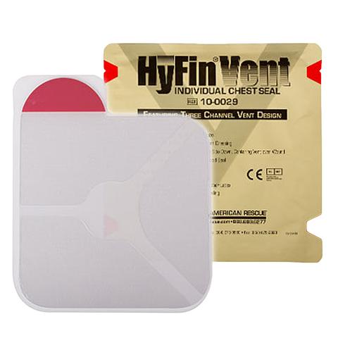 Клейкий пластырь с 3-мя каналами для сброса давления (6х6 дюймов) HyFin Vent Chest Seal North American Rescue – купить с доставкой по цене 1 530р