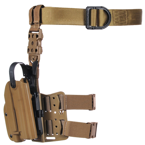 Тактическая пластиковая кобура для Глок 17, Sig Sauer с фонарём WRS Level II Duty Holster w/Tac-light Blade-Tech – купить с доставкой по цене 9 890р