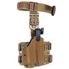 Тактическая пластиковая кобура для Глок 17, Sig Sauer с фонарём WRS Level II Duty Holster w/Tac-light Blade-Tech – фото 2