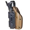 Тактическая пластиковая кобура для Глок 17, Sig Sauer с фонарём WRS Level II Duty Holster w/Tac-light Blade-Tech – фото 8