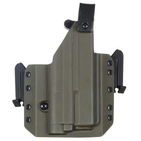 Быстросъёмная кобура Level 1 под Glock 17 с фонарём Зенит