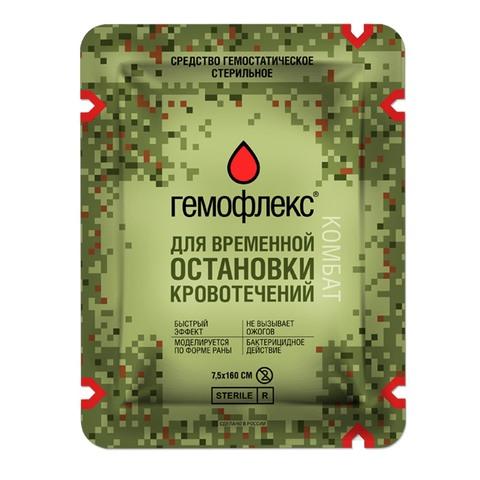 Гемостатическая повязка Гемофлекс Комбат – купить с доставкой по цене 1 950 р