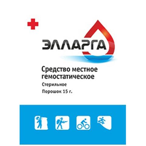 Гемостатический порошок ЭЛЛАРГА 15 грамм – купить с доставкой по цене 1 250р