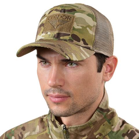 Тактическая кепка с сеткой меш Flat Bill Trucker Condor – купить с доставкой по цене 1 490р