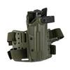 Тактическая пластиковая кобура для Глок 17, Sig Sauer с фонарём WRS Level II Duty Holster w/Tac-light Blade-Tech – фото 10