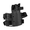 Тактическая пластиковая кобура для Глок 17, Sig Sauer с фонарём WRS Level II Duty Holster w/Tac-light Blade-Tech – фото 11