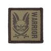 Патч Warrior (Воин) коричневый