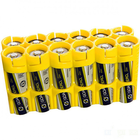 Бокс для 12 батареек типа AA SimLine – купить с доставкой по цене 380руб.