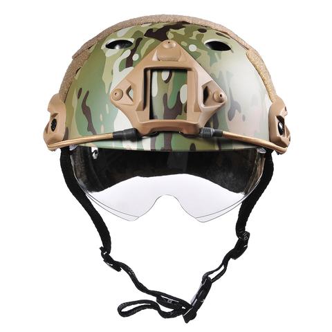 Пластиковый шлем с визором - реплика карбонового Ops-Core – купить с доставкой по цене 5290руб.