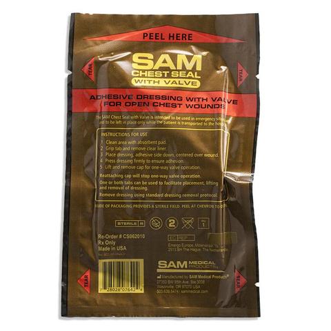 Пластырь при проникающих травмах груди c односторонним клапаном Sam Chest Seal – купить с доставкой по цене 2720руб.