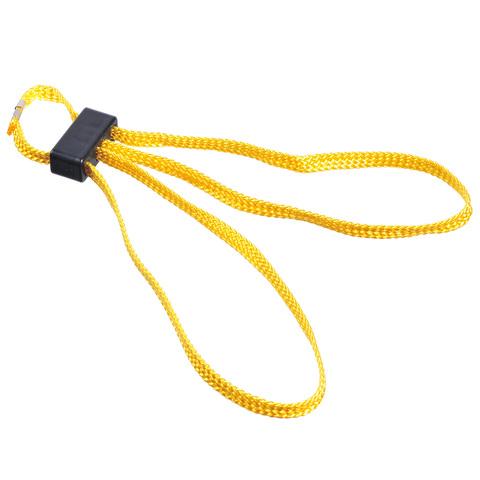 Жёлтые текстильные одноразовые наручники HT-01-Y ESP – купить с доставкой по цене 190руб.